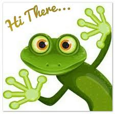 Hi There!! Welcome!! | Frog art, Frog, Clip art